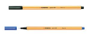 STABILO Point 88 Fineliner Pen BLACK AND BLUE INK