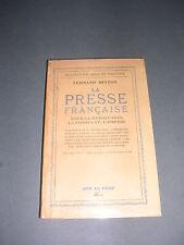 Journalisme Fernand Mitton la presse française révolution consulat empire 1945
