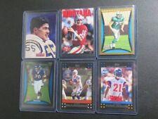 (6) Football Card Star & Insert Lot Joe Montana Peyton Manning Junior Seau D26