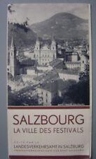 Ancien dépliant touristique  Guide de SALZBOURG Salzburg 1936