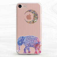 Boho Elephant Mandala Moon Animal Case For iPhone 6S 7 8 Xs XR 11 Pro Plus Max