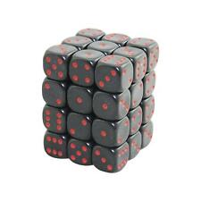 12mm d6 Black with Red Dots Dice Set (x36)