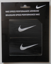 Nike Dri-FiT Speed Performance Armbands One Pair Unisex Black/White New