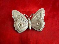 Zinnfigur Miniatur mit Steinen Schmetterling 4,5 cm Zinn 8 g Germany gestempelt