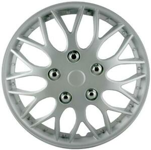 """QUALITY 15"""" GEARX WHEEL COVERS SILVER BBS STYLE SET OF 4"""