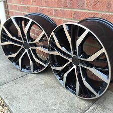 "Alloy Wheels 4 x 18"" Santiago GTD Style B+P et45 5x112 VW Golf Caddy Audi A3 TT"