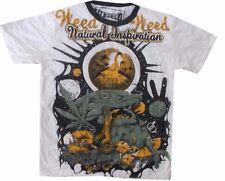 men shirt short sleeve cotton floral Magic mushroom Hobo Yoga ra Marijuana Weed