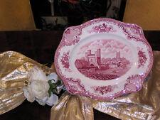 riesige Platte Servierplatte 35cm Johnson Bros England Old Britain Castles rot