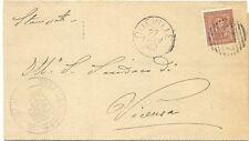 P6360   Vicenza, Dueville, annullo numerale a sbarre 1899