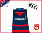 AFL Melbourne Demons Football Club Hand Towels Pack of 2 Official Merchandise