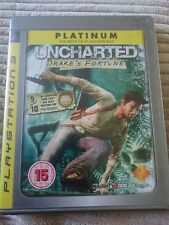 UNCHARTED DRAKE'S FORTUNE PLATINUM PS3 GAME WITH MANUALS