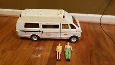 Vintage Metal Tonka Emergency Rescue Van Ambulance with People