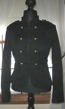 H&M Black Trendy Blazer Jacket Double Breasted 6 S