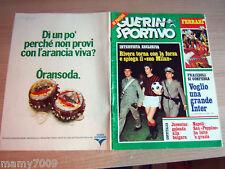 GUERIN SPORTIVO=NR°37 1975 ANNO LXIII=GIGI RIVA= GIANNI RIVERA COVER=FERRARI