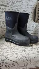 The Original Muck Boot Company Men's Boots SZ 8/8.5 Chore Slip-On Black Work GUC