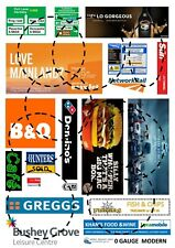 O gauge Modern Model Railway Signs and Posters 0 gauge 2 x A4 sheets