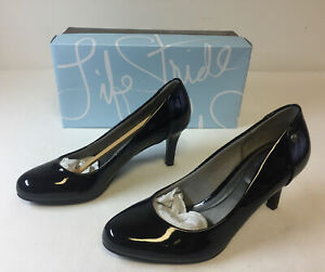 LIFE STRIDE women's shoes ~ LIVELY, BLACK PATENT ~ 6M