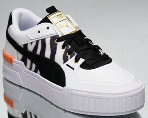 Puma Cali Sport Wild Cats Women's White Black Athletic Casual Lifestyle Sneakers