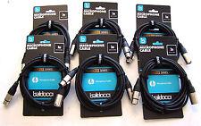 3m XLR Kabel howertige Ausführung mit Kabelklettband Audiokabel 6x3m XLR Kabel