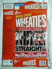 1993 CHICAGO BULLS NBA CHAMPIONSHIP 3 Peat JORDAN WHEATIES BOX Three Straight