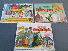 Vintage Disney poster collection the Aristocats Robin hood jungle book