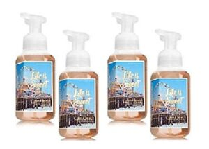 Bath & Body Works Boardwalk Vanilla Cone Gentle Foaming Hand Soap 8.75 oz - x4