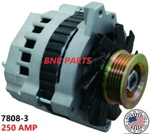 250 Amp 7808-3 Alternator Buick Cadillac Chevy Oldsmobile High Output HD