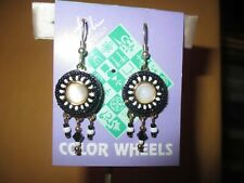 Liztech Color Wheel Pierced Earrings  signed and dated 2005