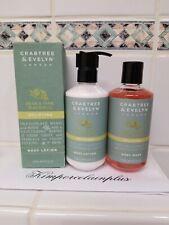 Crabtree & Evelyn Pear & Pink Magnolia Uplifting Body Wash / LOTION Set 8.5 Oz