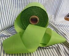 "French Ribbon 3""W Apple Green Taffeta Vintage NOS"