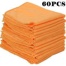 60x New Detailing Cleaning Car Soft Cloths Large Microfibre Ultra Absorbant ange