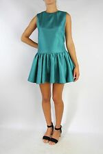 CAMEO Green Sheen Drop waist Dress Size XS (AU 8)