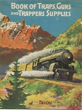 1923 Taylor trappers supply catalog,trapping,trap