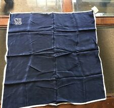 """Ralph Lauren navy blue silk scarf NEW NWT 20""""x20"""" RL $45.00 Purse Ponytail Neck"""