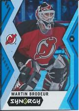 2017-18 Upper Deck Synergy MARTIN BRODEUR Blue Parallel #42 New Jersey Devils