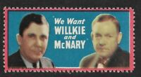 Willkie Presidential Run Campaign Stamp – Ran Against Roosevelt in 1940