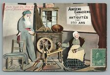 """Old Canadians"" Musee Royal SAINTE ANNE de BEAUPRE Quebec—Royal Museum—Man Woman"