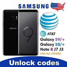 UNLOCK CODE AT&T SAMSUNG GALAXY S9 S9+ PLUS S8 S8/+ S7 S6 NOTE 9 8 J7 J3 A8 ATT