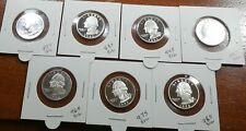 Collection of PROOF * 90% SILVER * Washington Quarters * 1992 S TO 1998 S