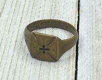 Original WWI Trench Art 1914 German Maltese Cross Ring