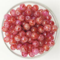NEW 30PCS 8mm Glass Round Pearl Spacer Loose Beads Pattern Jewelry Making 32
