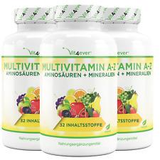 3x 365 Multivitamin A-Z Tabletten (vegan) Vitamine + Mineralien 32 Wirkstoffe