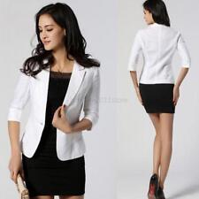 Women OL Slim Solid One Button Business Blazer Suit Jacket Coat Outwear Tops