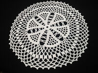 """2 Vintage lace doilies 12.7"""" Hand crocheted round White Doily Lace doily"""