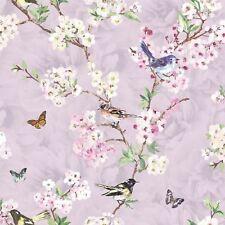 K2 Maylea Lilac Birds Butterflies Flowers Floral Wallpaper Trees Nature Garden