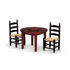 """American Girl ADDY TABLE & CHAIRS for 18"""" Doll Furniture Dining Historical NEW"""