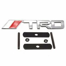 Chrome Metal TRD Red Grill Mesh Grille Emblem Logo Decal Badge For Tacoma Tundra