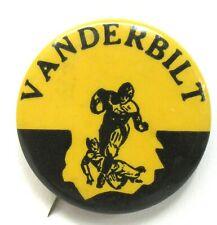 "1940's to 1950' VANDERBILT illustrated football large size 1.5"" pinback button ^"