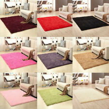 Anti-Skid Fluffy Rug Shaggy Area Dining Living Room Bedroom Carpet Floor Mat