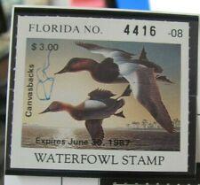 F2024 Fl 1986 Canvasback Sba Robert Steiner Stamp, Serial Number 4416-08